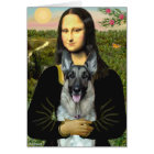 Mona Lisa - German Shepherd 12 Card