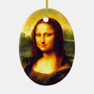 Mona Lisa gift Ceramic Ornament