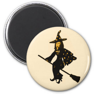 """""""Mona Lisa goes to Halloween Party""""* 2 Inch Round Magnet"""