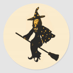 """""""Mona Lisa goes to Halloween Party""""* Classic Round Sticker at Zazzle"""