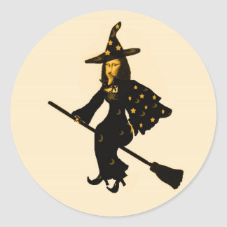 """""""Mona Lisa goes to Halloween Party""""* Classic Round Sticker"""