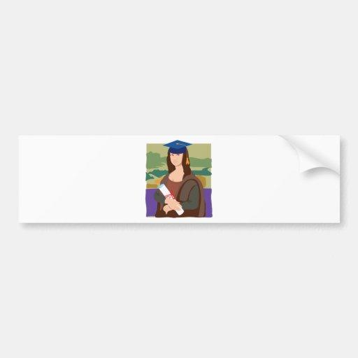 Mona Lisa Graduate Bumper Stickers
