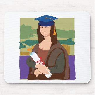 Mona Lisa Graduate Mouse Pad