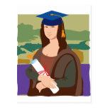 Mona Lisa Graduate Postcard