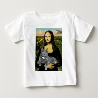 Mona Lisa - Grey cat Baby T-Shirt