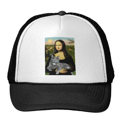 Mona Lisa - Grey cat Mesh Hat
