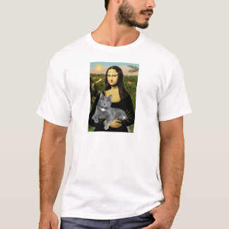 Mona Lisa - Grey cat T-Shirt