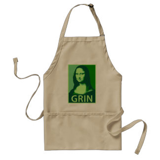 Mona Lisa Grin Adult Apron