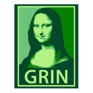 Mona Lisa Grin Postcard