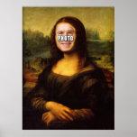 Mona Lisa hace frente al agujero Póster