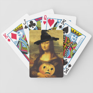 Mona Lisa Halloween Witch Fun Party Playing Cards