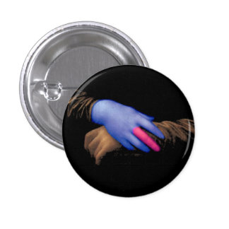 Mona Lisa hands by Fred Wilder Pinback Button