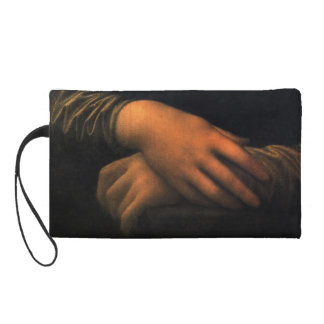 Mona Lisa - hands Wristlet