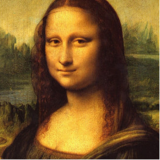 Mona Lisa Head Detail - Leonardo Da Vinci Cutout