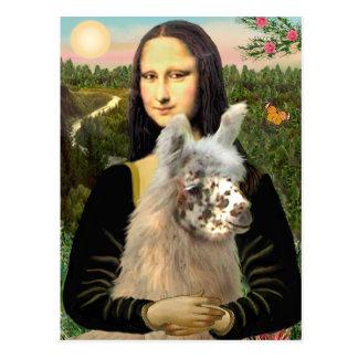 Mona Lisa & Her Llama Postcard