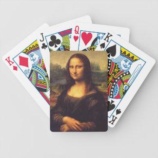 Mona Lisa hermosa Barajas De Cartas