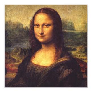 Mona Lisa hermosa Invitación 13,3 Cm X 13,3cm