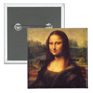 Mona Lisa hermosa Pin Cuadrada 5 Cm