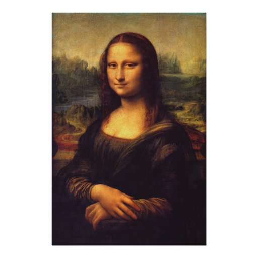 Mona Lisa hermosa Póster