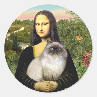 Mona Lisa - Himalayan cat 7 Classic Round Sticker