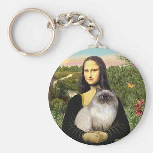 Mona Lisa - Himalayan cat 7 Key Chains
