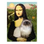 Mona Lisa - Himalayan cat 7 Postcard