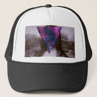 Mona lisa hipster. trucker hat