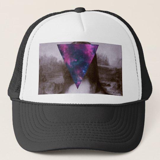754e5126d04c9b Mona lisa hipster. trucker hat | Zazzle.com