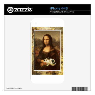 Mona Lisa Holding Bunny Rabbit Decals For iPhone 4S