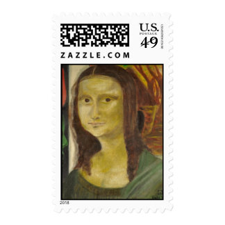 Mona Lisa in Africa  on stamps by Emeka!