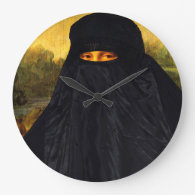Mona Lisa In Burqa Clock