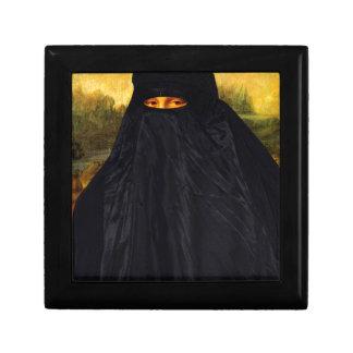 Mona Lisa In Burqa Trinket Boxes