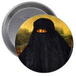 Mona Lisa In Burqa Pinback Button