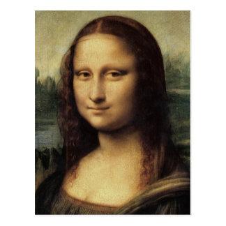 Mona Lisa in detail by da Vinci postcard