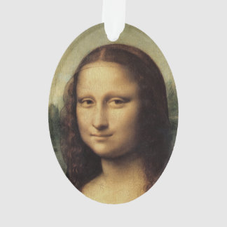 Mona Lisa in detail by Leonardo da Vinci Ornament