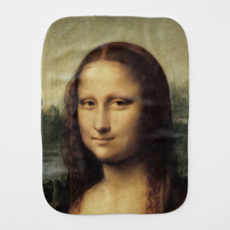 Mona Lisa in detail by Leonardo da Vinci Baby Burp Cloth
