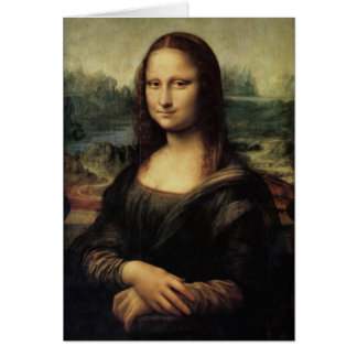 Mona Lisa in detail Card