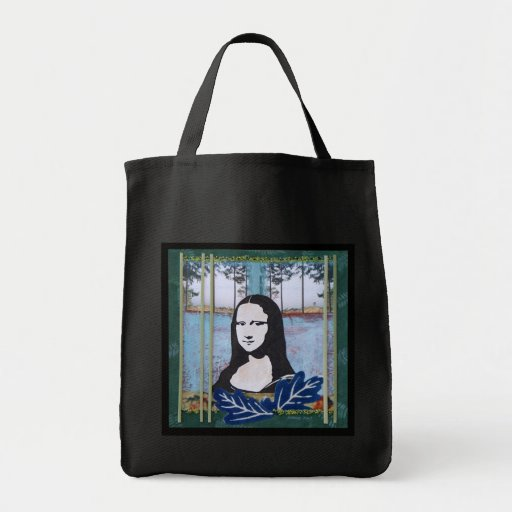 Mona Lisa in the Country Canvas Bags