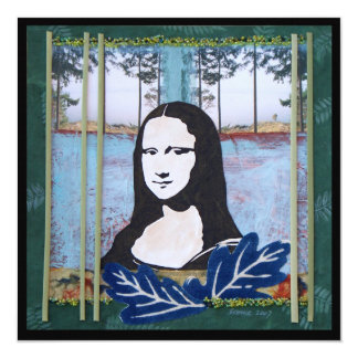 Mona Lisa in the Country Card