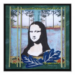 Mona Lisa in the Country 5.25x5.25 Square Paper Invitation Card