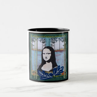 Mona Lisa in the Country Two-Tone Coffee Mug