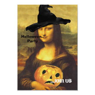 Mona Lisa ~ In Witch Costume Party Invitations