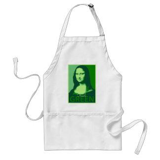 Mona Lisa is Green Adult Apron