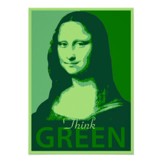 Mona Lisa is Green Poster