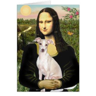 Mona Lisa -Italian Greyhound 5 Card