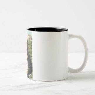Mona Lisa -Italian Greyhound 5 Two-Tone Coffee Mug