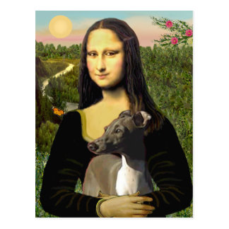 Mona Lisa - Italian Greyhound Postcard