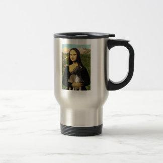 Mona Lisa - Italian Greyhound Travel Mug