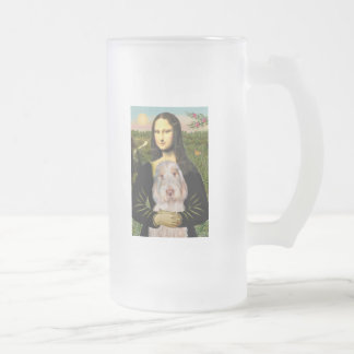 Mona Lisa - Italian Spinone #12 Frosted Glass Beer Mug