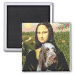 Mona Lisa - italiano Spinone (10) melado Imán Cuadrado